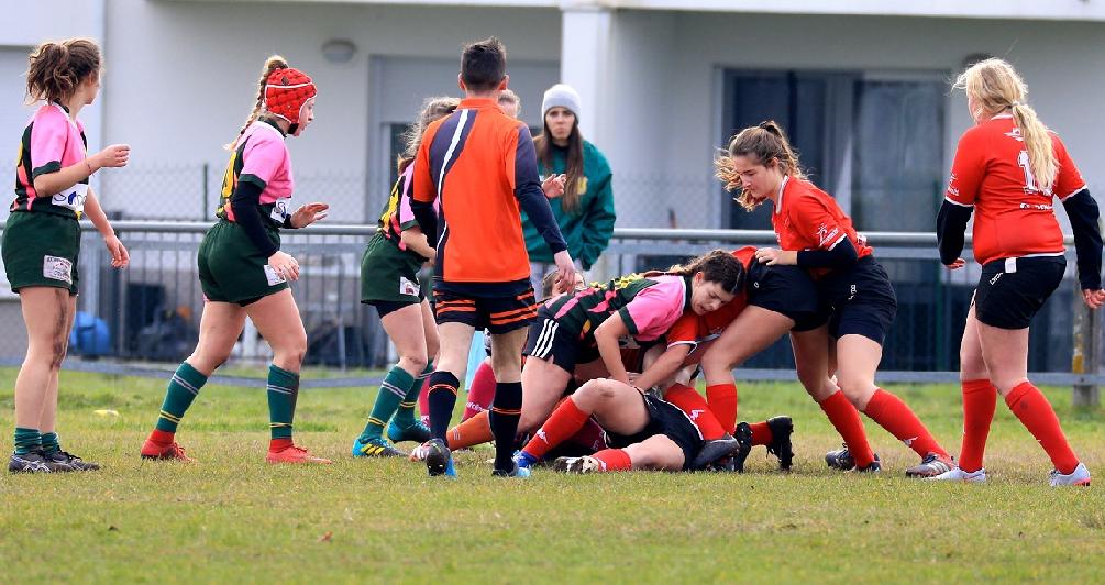 L'équipe féminine de rugby de Saint-André-de-Cubzac